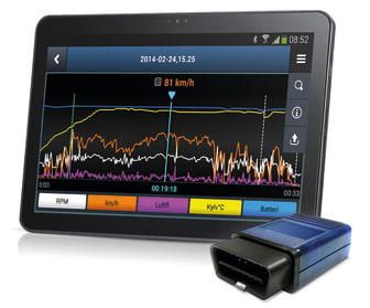Infocar interface_tablet