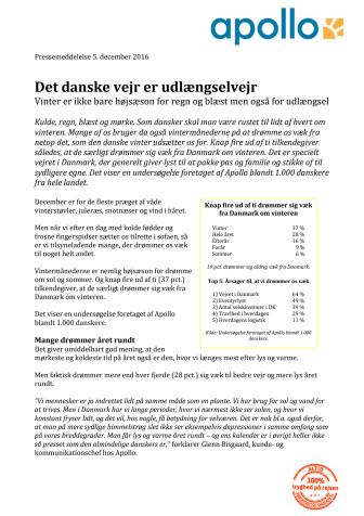 Det danske vejr er udlængselvejr