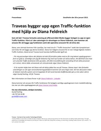 Traveas bygger upp egen Traffic-funktion med hjälp av Diana Feldreich