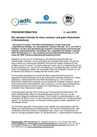 Die nächsten Schritte für einen sicheren und guten Radverkehr in Brandenburg