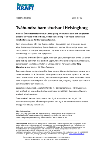Tvåhundra studsiga barn i Helsingborg