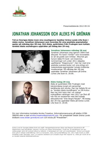 Jonathan Johansson och Aleks på Grönan