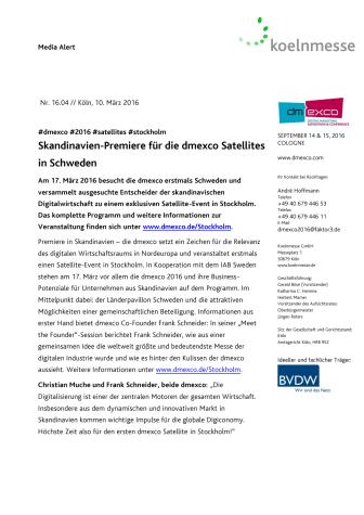 Skandinavien-Premiere für die dmexco Satellites in Schweden
