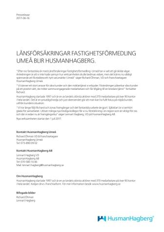 LÄNSFÖRSÄKRINGAR FASTIGHETSFÖRMEDLING UMEÅ BLIR HUSMANHAGBERG.