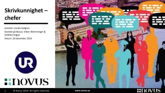 UR:s Novus-undersökning: Skrivkunnighet – chefer