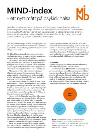 Sammanfattning av rapport om Mind-index över den psykiska hälsan 2013-10-10