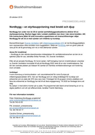 Nordbygg – en styrkeuppvisning med bredd och djup