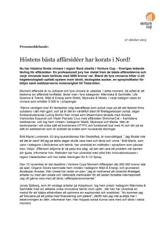 Norra Sveriges bästa affärsidéer har korats!