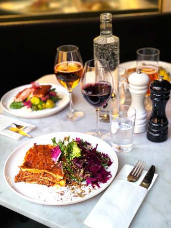 Vegetarisk lasagne på svensk baljväxtfärs