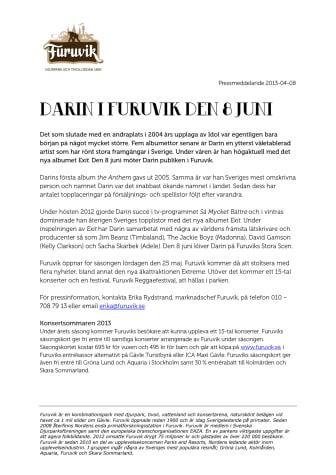 Darin till Furuvik den 8 juni
