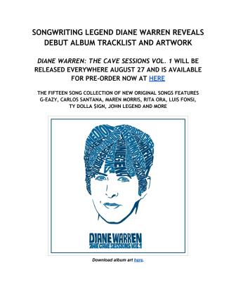 Diane Warren - album announcement