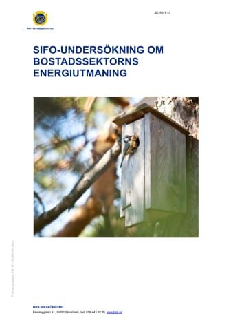 Sifo-undersökning om bostadssektorns energiutmaning