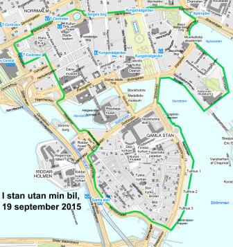 Karta I stan utan min bil lördagen den 19 september