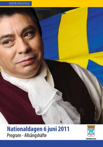 Program för nationaldagsfirandet i Västerås inklusive allsångstexter