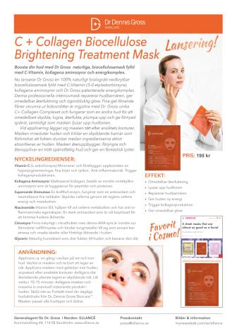 C + Collagen Biocellulose Brightening Treatment Mask 2019 Pressrelease