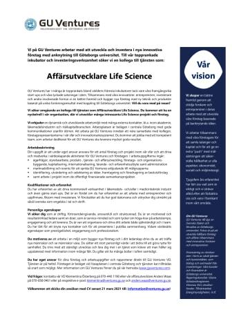 GUV rekryteringsannons Affärsutvecklare Life Science 210226.pdf