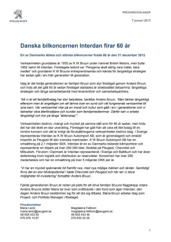 Danska bilkoncernen Interdan firar 60 år