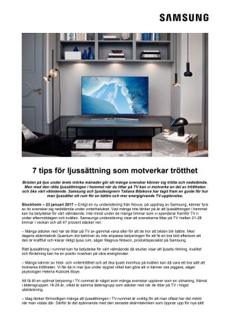 7 tips för ljussättning som motverkar trötthet