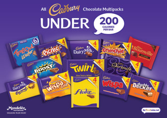 Mondelēz International removes 10 billion calories from UK market by bringing 100% of Cadbury bars sold in multipacks under 200 calories