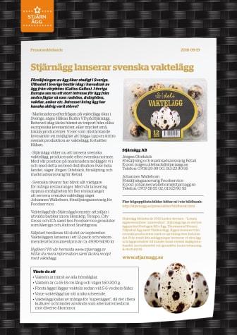 Stjärnägg lanserar svenska vaktelägg