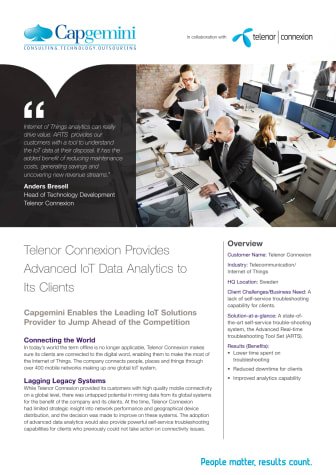 Telenor Connexion and Capgemini about ARTS IoT Data Analytics – Success Story