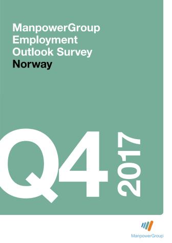 ManpowerGroups arbeidsmarkedsbarometer Q4 2017