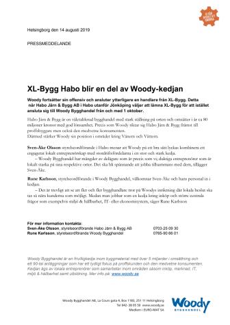 XL-Bygg Habo blir en del av Woody-kedjan