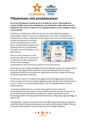 Tillsammans mot prostatacancer