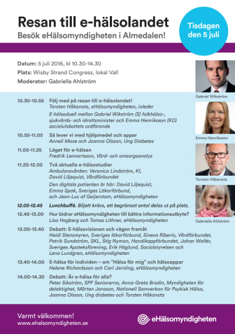 Resan till e-hälsolandet - program i Almedalen 2016