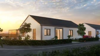 Exempel på villa Hyreshus från det vinnande förslaget från Götenehus.