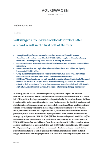 PM Volkwagen Group raises outlook for 2021 after a record result in the first half of the year.pdf