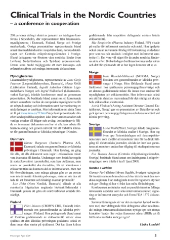 1st Conference on Clinical Trials in the Nordic Countries