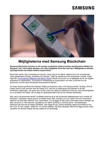 Möjligheterna med Samsung Blockchain