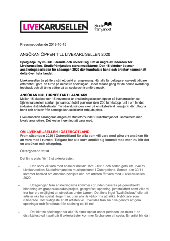 LIVEKARUSELLEN ÖSTERGÖTLAND 2020