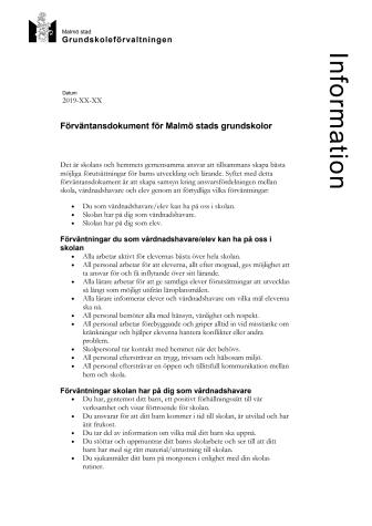 Förväntansavtal för Malmös skolor