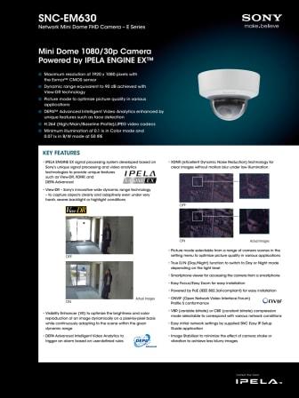 Kameraövervakning från Gate Security - Sony SNC-EM630