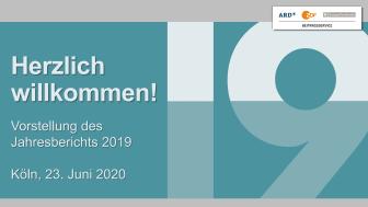 Präsentation zum Jahresbericht 2019
