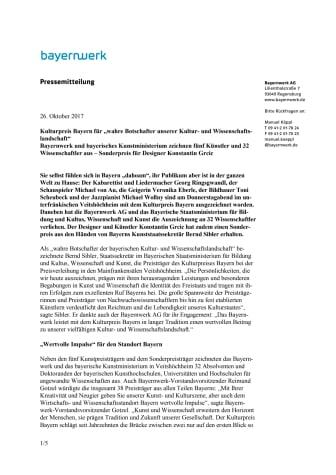 """Kulturpreis Bayern für """"wahre Botschafter unserer Kultur- und Wissenschaftslandschaft"""""""