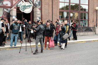 Skäggparaden uppmärksammas i medier