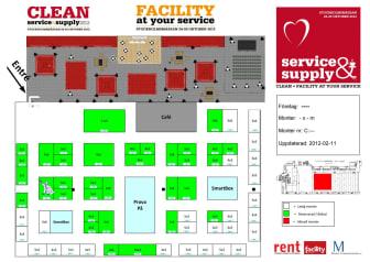 Karta CLEAN service & supply Stockholm 24-25/10