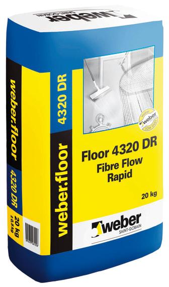 weber.floor 4320 Fibre Flow Rapid DR - Dammreducerad avjämningsmassa från Weber