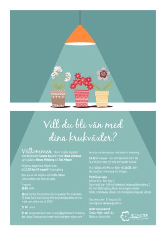 Vill du bli vän med dina krukväxter?