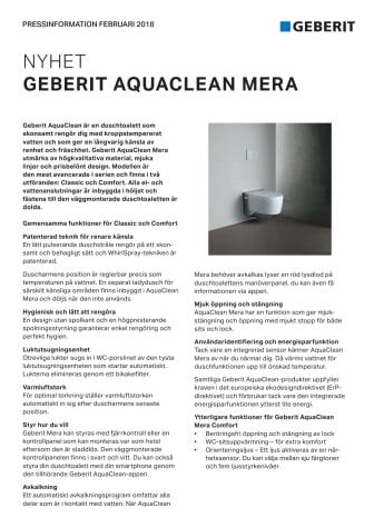 Pressinformation om AquaClean Mera