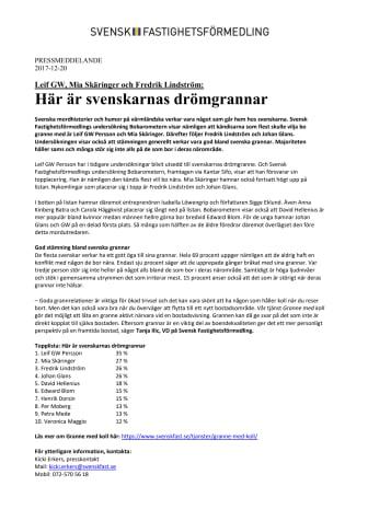 Leif GW, Mia Skäringer och Fredrik Lindström: Här är svenskarnas drömgrannar