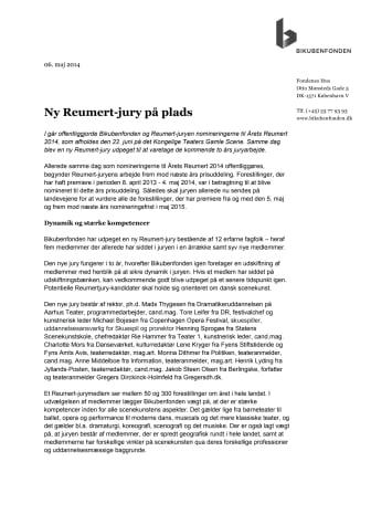 Ny Reumert-jury på plads