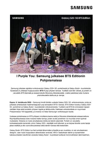 I Purple You: Samsung julkaisee BTS Editionin Pohjoismaissa