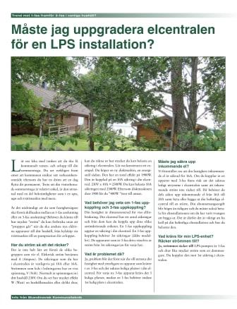 Måste jag uppgradera elcentralen för en LPS installation?