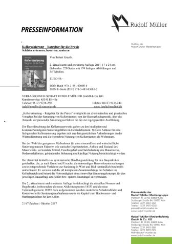 Kellersanierung – Ratgeber für die Praxis