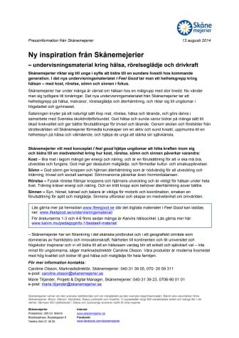 Ny inspiration från Skånemejerier – undervisningsmaterial kring hälsa, rörelse och drivkraft