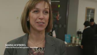 Maria Hofberg, Affärschef SJ; Revenue management Pris& Biljett, och resenärer firar SJ 160 år